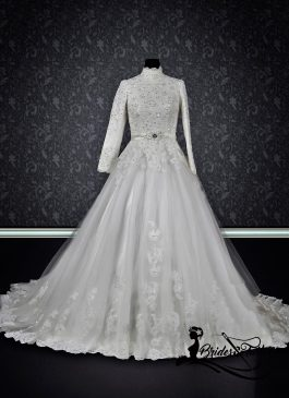 modest hijab wedding dress