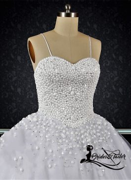 Pearls Custom Made Wedding Dress