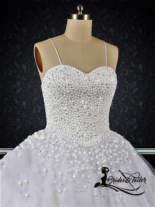 Pearls Custom Made Wedding Dress