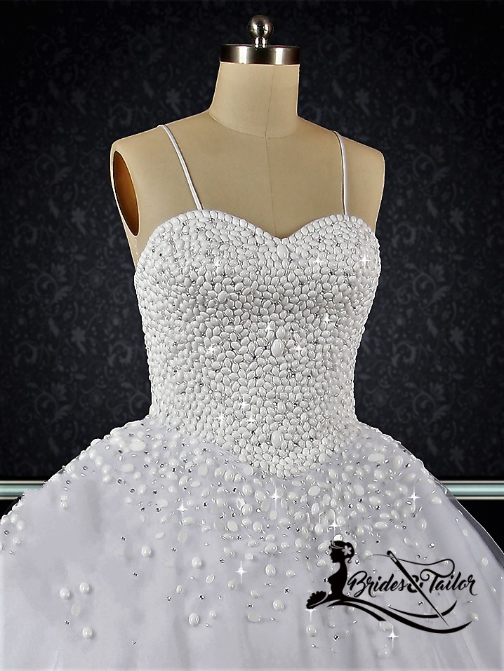 Pearls Custom Made Wedding Dress by Brides & Tailor