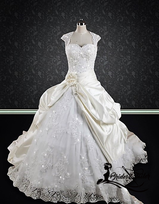 Custom Made Ballgown Wedding Dress