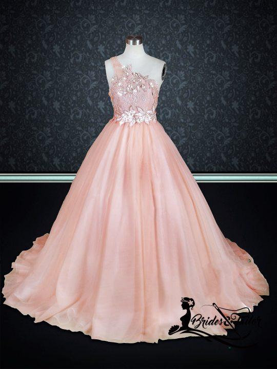Peach Colored Wedding Dress