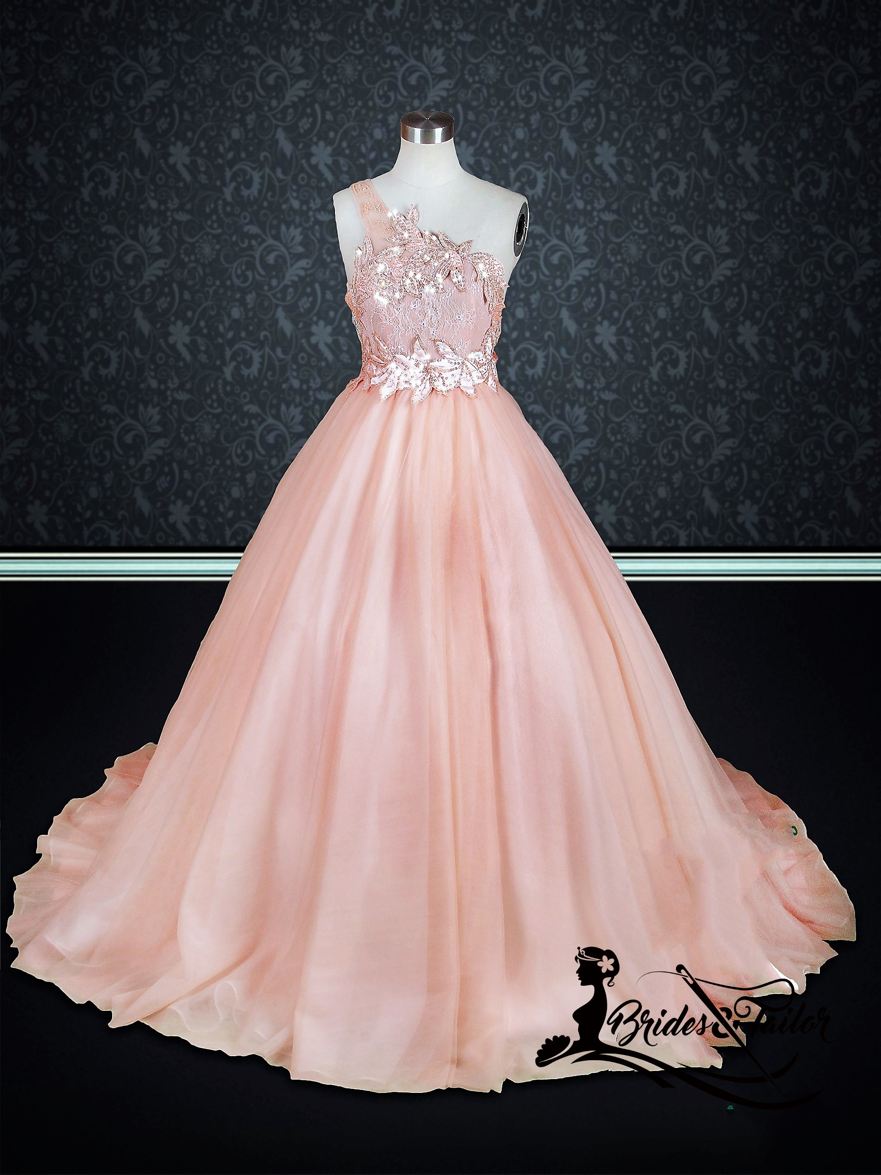 Peach Colored Wedding Dress Brides & Tailor