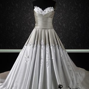 two toned wedding dress