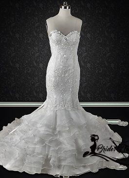 bling mermaid wedding dress