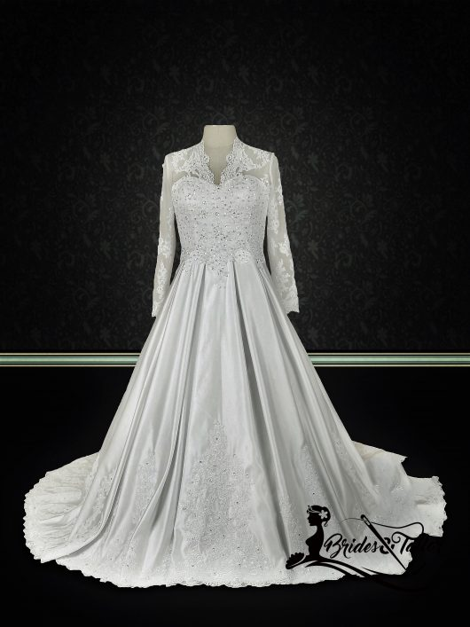 modest bridal gown