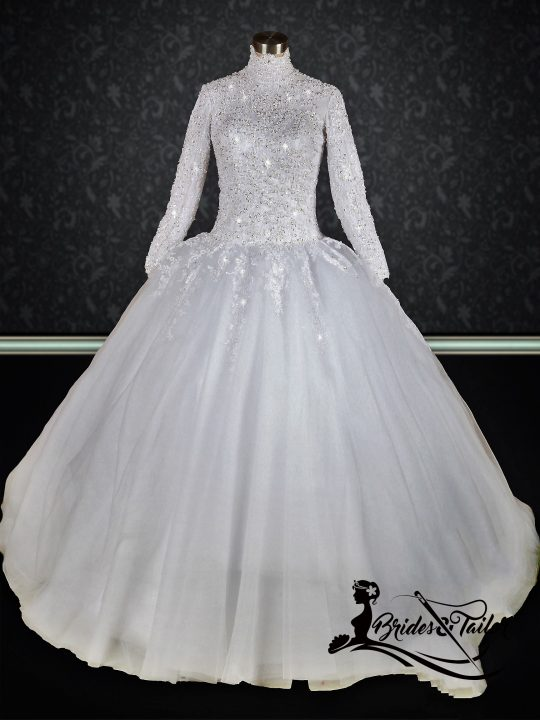 hijab modest wedding dress