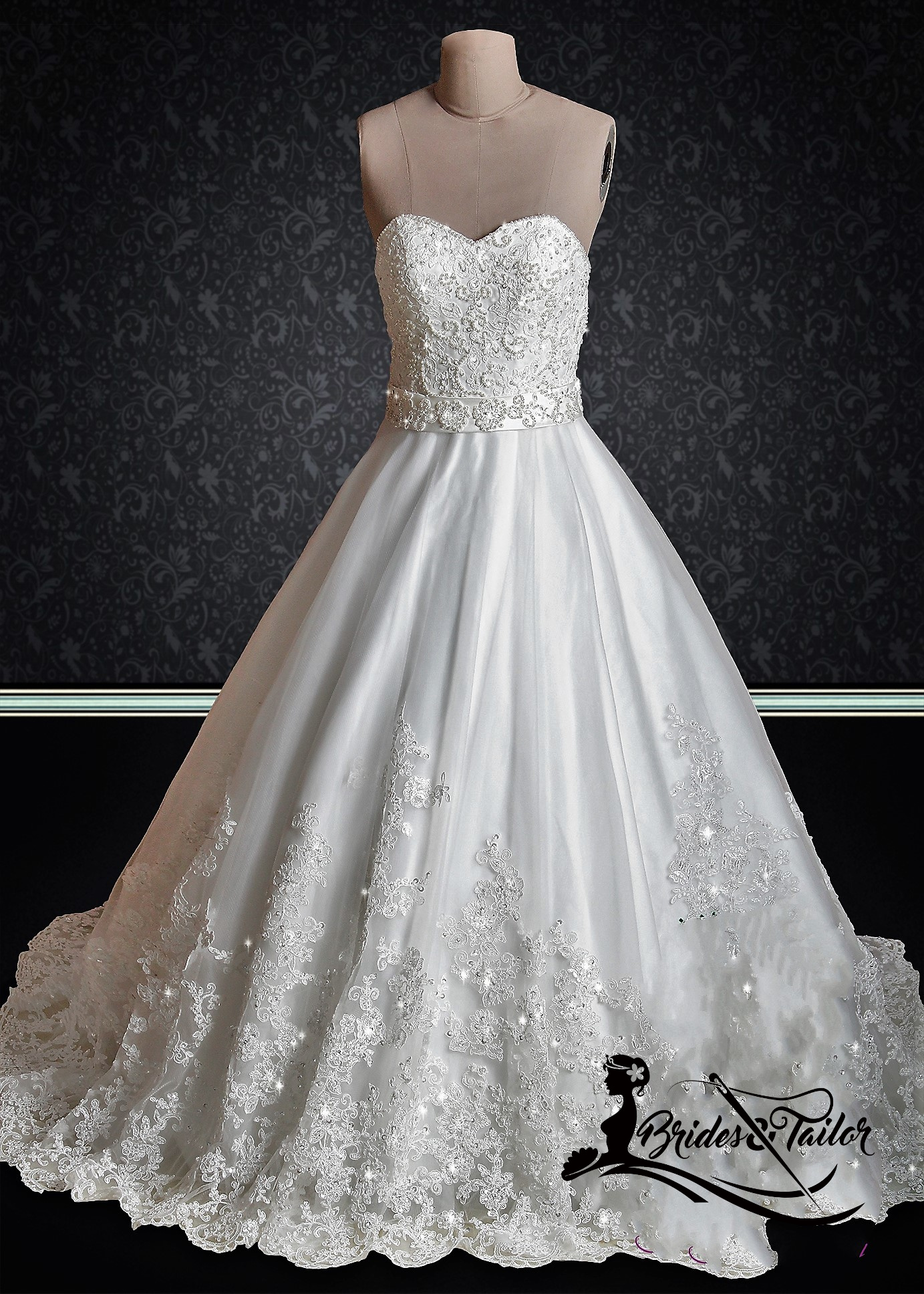 Simple yet elegant wedding dress Brides & Tailor USA