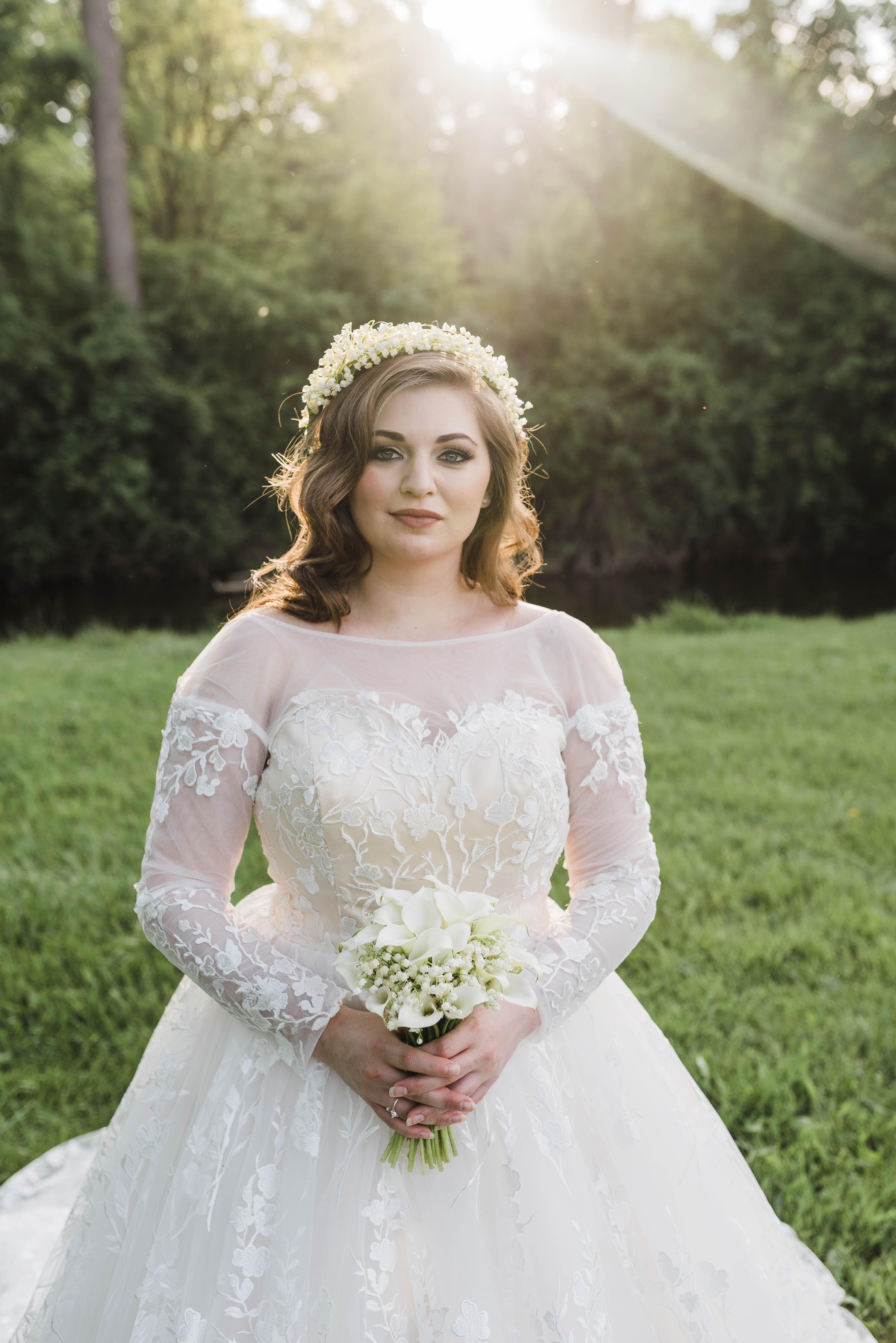 3d floral wedding dress custom made by brides tailor 3d floral wedding dress junglespirit Gallery