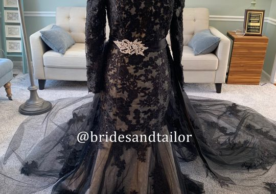 Black Wedding Dress / Brides & Tailor