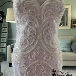 Hand beaded mermaid wedding dress