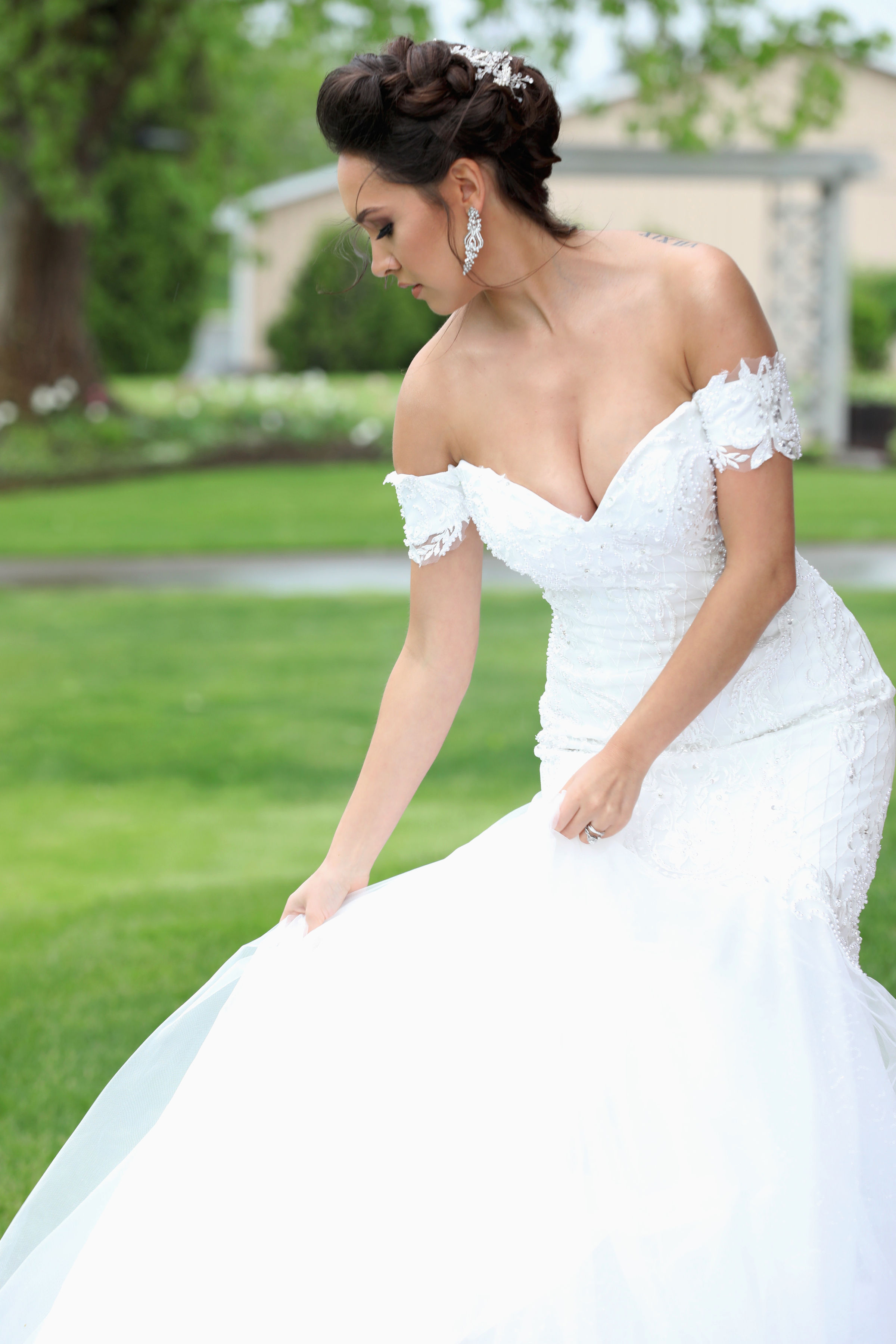Off Shoulder Wedding Dress With Bling By Brides Tailor Brides Tailor Off Shoulder Wedding Dress With Bling By Brides Tailor Usa