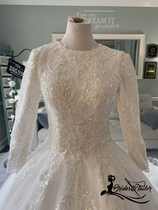 hijab wedding dress by Brides & Tailor