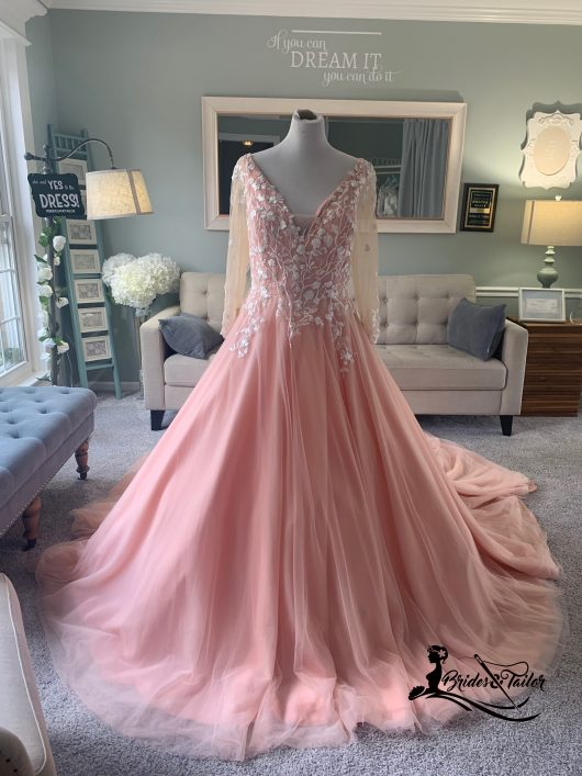 Pink Wedding Dress by Brides & Tailor