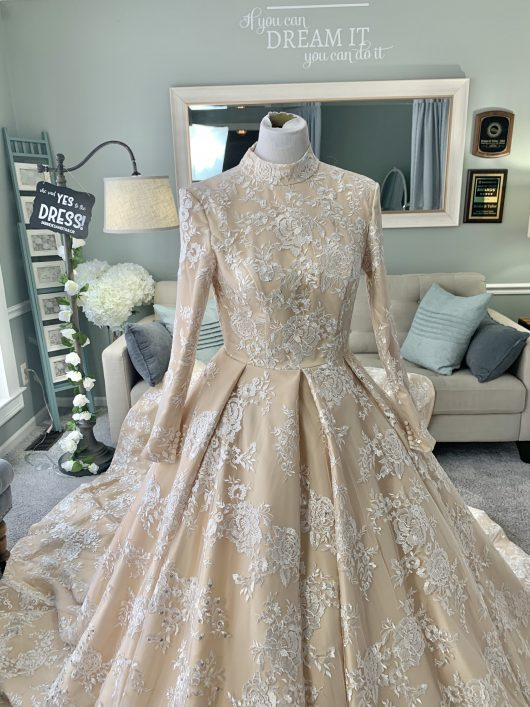 Hijab Wedding Dress by Brides & Tailor