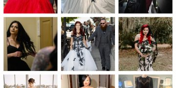 Top 9 Black Wedding Dresses by Brides & Tailor