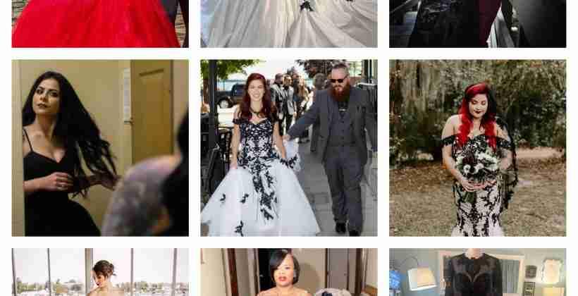 Top 9 Black Wedding Dresses by Brides & Tailor