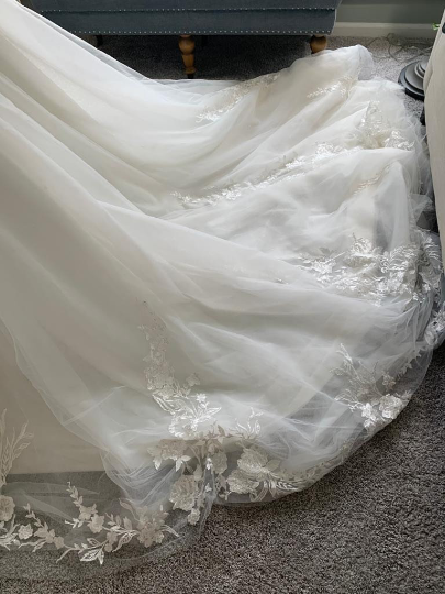 Custom Off Shoulder Wedding Dress