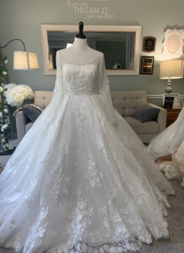 custom ballgown with sleeves