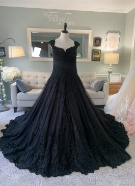 Black Ballgown by Brides & Tailor