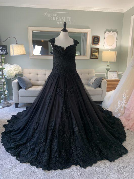 Black Ballgown by Brides & Tailor