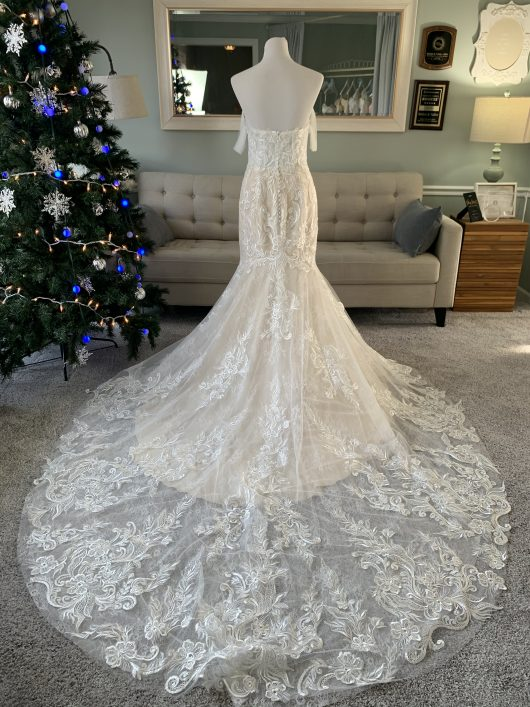 Mermaid Wedding Dress with Lace Overlay