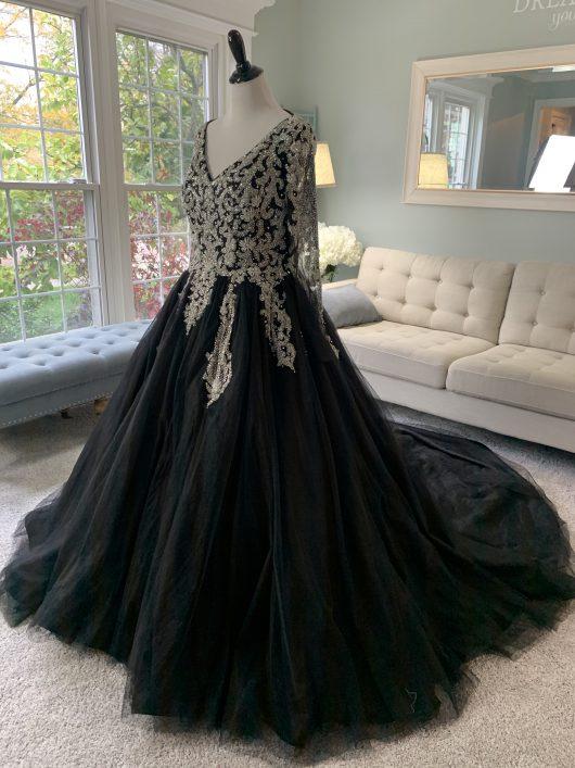 Black Wedding Dress by Brides & Tailor