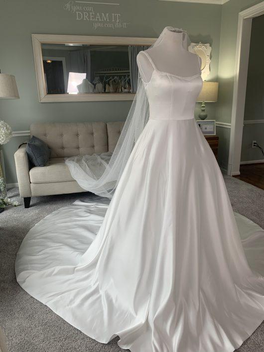duchess satin wedding dress