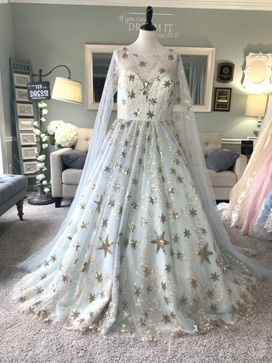 celestial wedding dress / galaxy wedding dress
