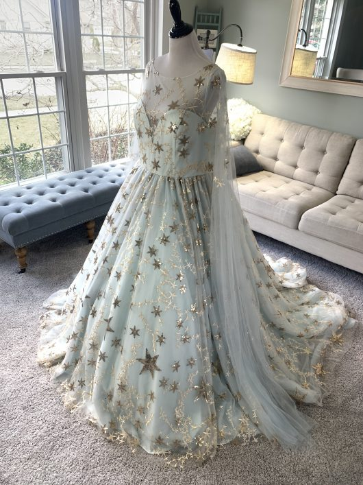 celestial galaxy wedding dress