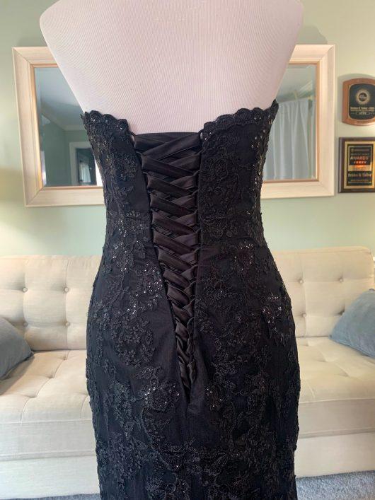 custom black wedding dress